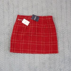 Urban Outfitters Skirts - ❤️Red and Gold Plaid Skirt❤️